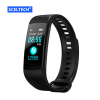 SCELTECH Pulsometer Fitness Smart Bracelet Y5 Smart Band Activity Tracker Pedometer Smart Watch Vibrating Alarm Clock