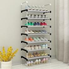 Полка для хранения обуви легкая сборка Металл стеллаж для обуви ботинки кроссовки Стенд Портативный Компактный органайзер для обуви с поручнем