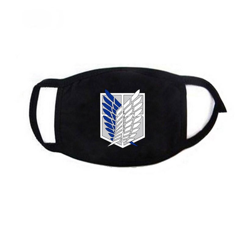 Fashion Men Women Cotton Anti Dust Mouth Mask Soft Muffle Breathable Anime Attack On Titan One Piece Cover Face Masks Cosplay in Women 39 s Masks from Apparel Accessories