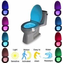 อัตโนมัติเปลี่ยนสีLED Light NightโคมไฟอัจฉริยะBody Motion Sensorแบบพกพาที่นั่งฉุกเฉินห้องน้ำWC Light