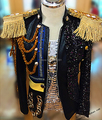 Черный пиджак пиджаки пальто для певица танцор производительность ночной клуб бар жених мужчины бар моды для мужчин huality