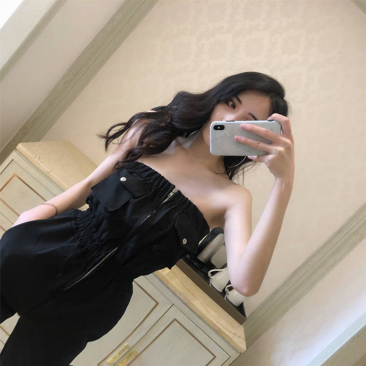 Spring Summer Jumpsuit Women Clothes 2019 Overalls for Women Sexy Playsuit Korean Elegant Black Jumpsuits Streetwear ZT2356 2