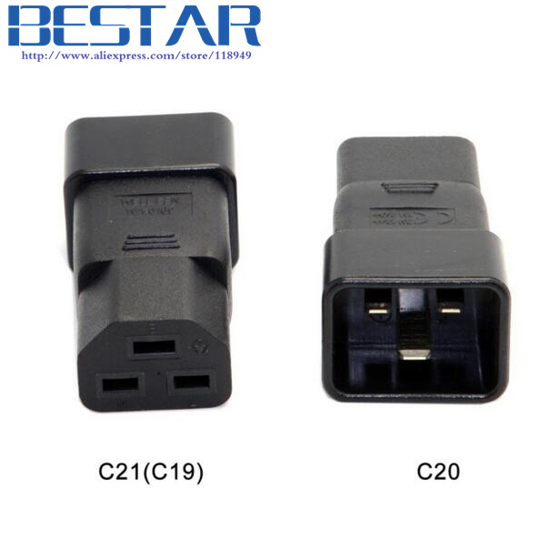 IEC320 IEC 320 C20 to C21 C19 Male to Female Extension PDU UPS Power Adapter connector Rated 10A 250V free shipping iec 320 c14 to saa australia 3 pin female power adapter for pdu ups ac plug converter wpt604
