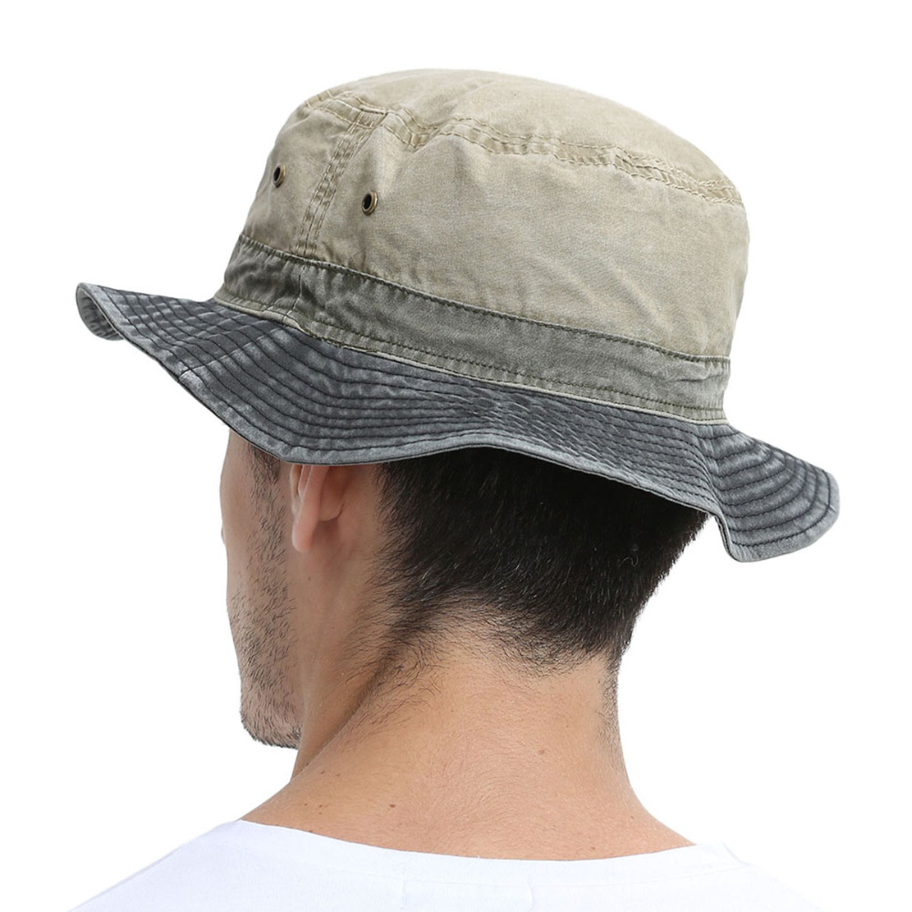 c0fa6445a36 VOBOOM Men s Bob Summer Panama Bucket Hats Outdoor Fishing Wide Brim Hat UV  Protection Cap Men Sombrero Gorro Sun for Male 139-in Bucket Hats from  Apparel ...