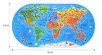 English edition children World map puzzle model 100 pieces of human geography puzzle Geography educational