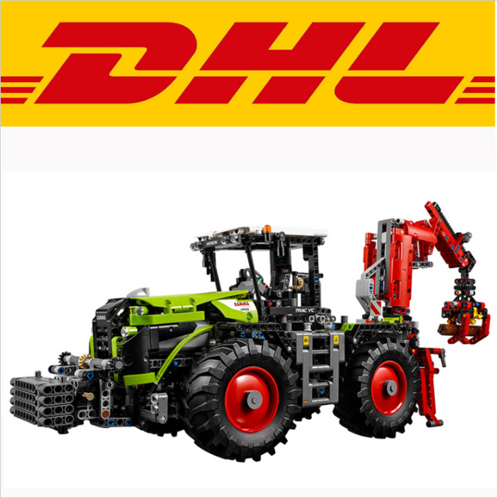 LEPIN 20009 1977Pcs Technic Technic Claas Xerion 5000 Trac Vc Model Building Kit figures Blocks Brick Toy Gift compatible 42054 siku трактор claas xerion 5000