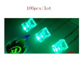 Alta qualidade 50 pces 2x3x4 retangular (quadrado) tipo gelo azul/ciano contas de iluminação led, brightness600 mcd para luz de fundo