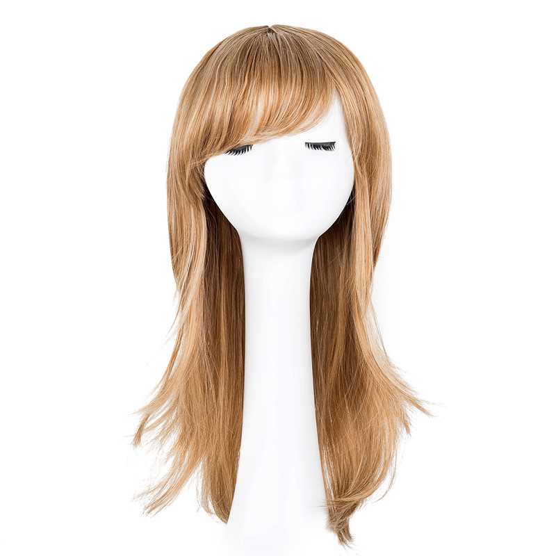 Synthetic None-lacewigs Fei-show Medium Wavy Wig Synthetic Heat Resistant Fiber Inclined Bang Cos-play Hair Costume Peruca Party Picture Color Hairpiece Exquisite Craftsmanship; Hair Extensions & Wigs