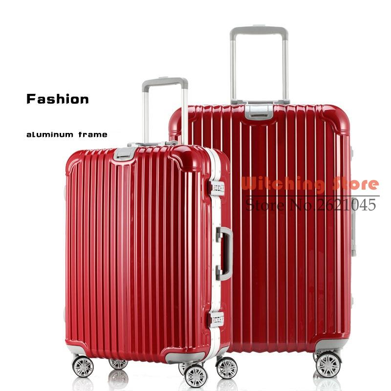 26 INCH  20242629# Hot day with aluminum frame, universal wheel trolley luggage suitcase a landing chassis #EC FREE SHIPPING 24 inch 20242629 direct aluminum frame rod universal wheel luggage suitcase board box bags and one generation ec