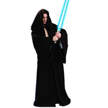 Star Wars Darth Vader Cosplay Jedi Black Robe Cloak Cape Halloween Men Darth Vader Costume
