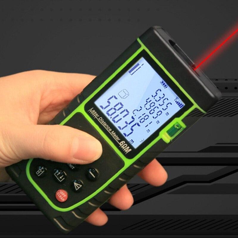 Urijk Freeship 20m/40m Laser Distance Meter Range Finder Rangefinder Laser Tape Measure Ruler Diastimeter Roulette Trena Tool