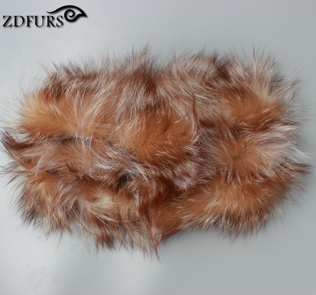 100% real fox fur scarf winter women scarf real fur round towel fur infinite scarf for women