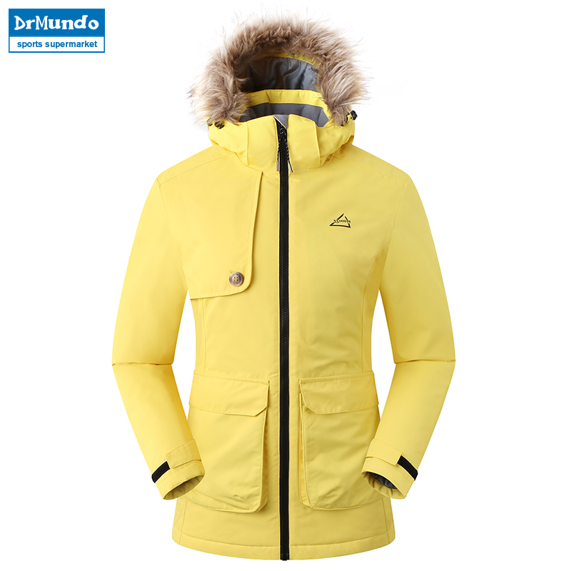 2018 New Outdoor Waterproof Ski Jacket Women Windproof Snowboard Coat Snow Female Thermal Hiking Skiing Ski-wear Jacket Clothes недорого