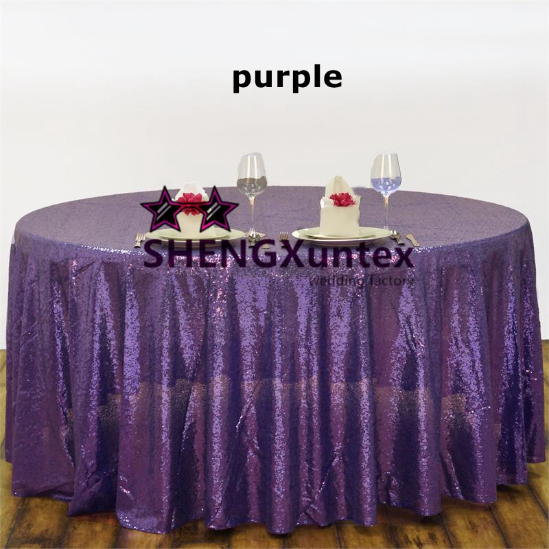 Sequin Table Cloth   Round Tablecloth   Purple Color Free Shipping China   Mainland High Quality Purple Tablecloths Wedding Buy Cheap Purple  . Purple Tablecloths For Wedding. Home Design Ideas