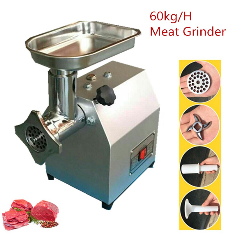 Home Use Stainless Steel Meat Grinder Electric Commercial Sausage Stuffer Maker Food Mincer Slicer Mills Mixer multi function electric stainless steel household commercial food meat grinder 220v