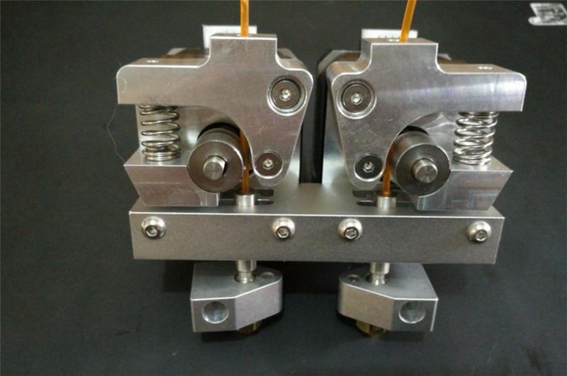 MKbot Replicator 2X 3D printer metal dual extruder kit for 1.75mm Replicator 2X Extruder Upgrade Kit, excluding stepper motor 3d printer parts reprap replicator 2x aluminum direct dual extruder upgrade kit no motor 1 75 mm