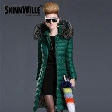 Skinnwille 2016 зимняя куртка женщин теплое пальто женские зимние куртки и пальто парки для женщин зимние меховые пальто пуховик