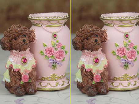 Classic Resin Furnishing Articles Handicraft Skirt Cute Puppy Toothpicks  Cup Boxes For Home Decor Flower Toothpick