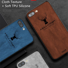Fashion Phone Case for iPhone X XS Max 7 Plus Soft Canvas Deer Cases 6 6s 8 XR Coque Funda Capa