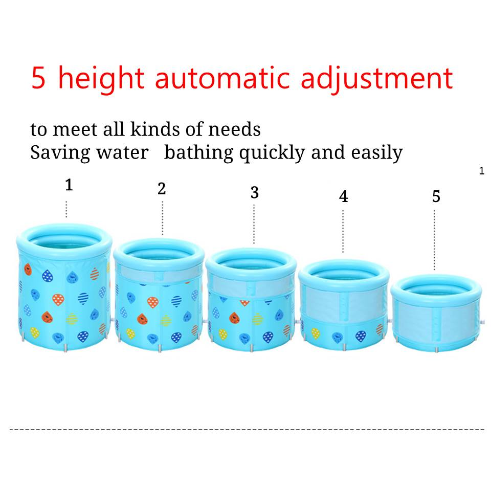 5 Height Adjustment Adult Portable Folding Inflatable Bath Tub with ...