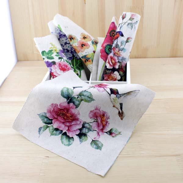 Silk fabric flower series hand painting digital printing cloth 20 silk fabric flower series hand painting digital printing cloth 2020cm thick cotton and linen mightylinksfo