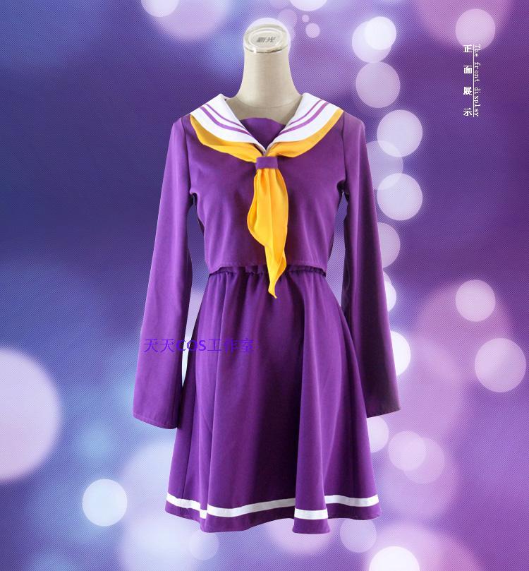 Inget spel inget liv cosplay Shiro kostym halloween kvinnor kläder - Maskeradkläder och utklädnad - Foto 3