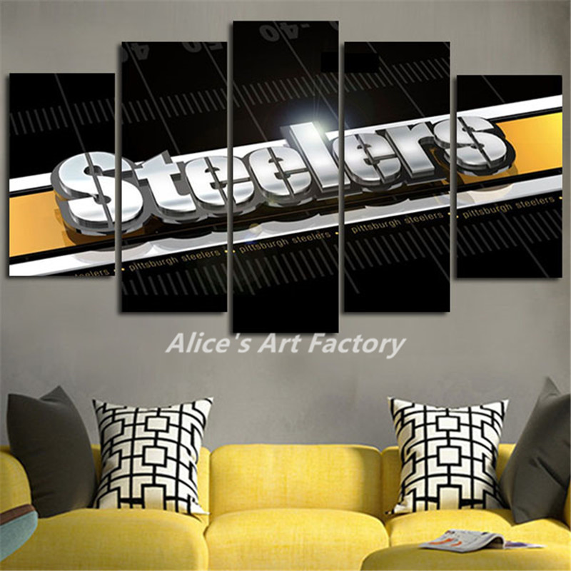 Home Decor Pittsburgh: 5Piece Painting Calligraphy Home Decor Pop Wall Art