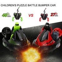 High Speed Set Of 2 Stunt Remote Control RC Battle Bumper Cars With Drivers Play Ready