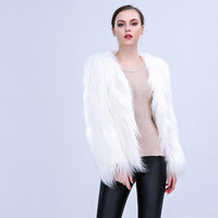 New Style Women Christmas LED Fur Coat Stage Costumes Nightclub Outwear Dancer Jackets Sexy Fashion Hot