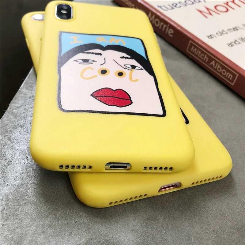 Lucu Lubang Hidung Dicetak Phone Case untuk iPhone 5S SE 6 6S 7 8 PLUS Case untuk iPhone X XR Xsmax Cover Fashion Lucu Kartun lembut Kasus