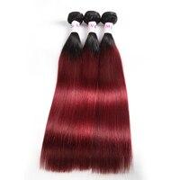 Megalook Pre Colored Ombre T1b99j Brazilian Straight Human Hair Bundles Honey Blonde Remy Hair Weave Bundle Hair Extensions