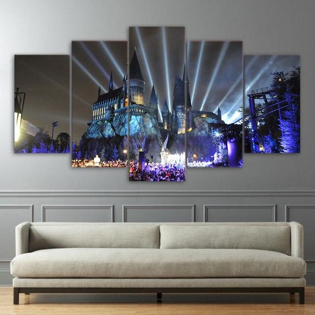 wohnkultur rahmen wohnzimmer hd gedruckt leinwand poster 5 stucke shiva parvati ganesha gemalde wandkunst abstrakte bilder