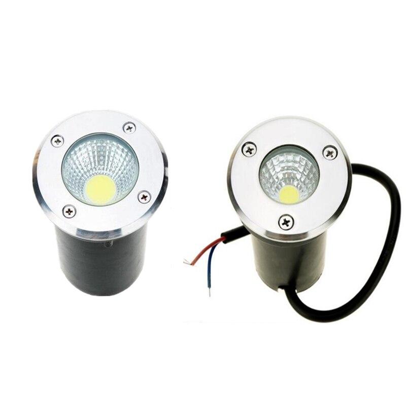 AC85-265V/DC12V IP68 10W 5W Warm Cold White Buried Lamp Inground Lighting Outdoor COB LED Underground Lamp Light