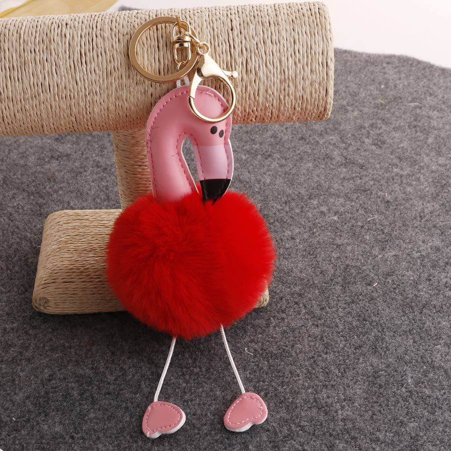 Cute Soft Fluffy Pompom Keychain Plush Toy Doll Keychain Pendant Charms Stuffed Toys For Children Gift in Stuffed Plush Animals from Toys Hobbies