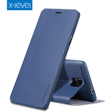X-Level Luxury Business PU Leather Case for Samsung Galaxy Note 4 Ultra thin Flip Cover for Samsung Note4 N910F N910H N910C Case