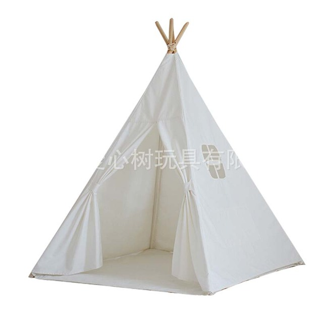 Lovely cartoon teepee kid play tent cotton canvas kids teepee white playhouse fabric children bed tent  sc 1 st  AliExpress.com & Lovely cartoon teepee kid play tent cotton canvas kids teepee ...