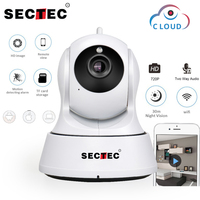 SECTEC 720P Cloud IP Camera 1MP Mini WIFI Home Security Camera Video Monitor Network Cam Wireless