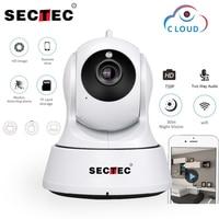 SECTEC 720P Cloud IP Camera 1MP Mini WIFI Home Security Camera Video Monitor Network Cam Wireless