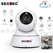 SECTEC 720P ענן אחסון IP מצלמה אלחוטי WIFI מצלמת אבטחת בית מעקבים טלוויזיה במעגל סגור רשת מצלמה ראיית לילה בייבי מוניטור