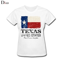 USA America Texas Flag T Shirt Women Woman XL 3XL Short Sleeve Fashion Custom Hombre Family