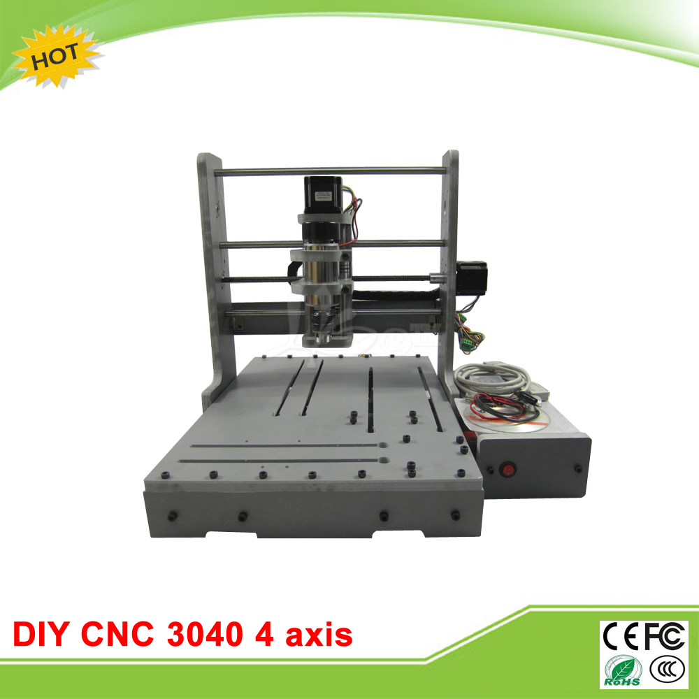 DIY CNC router 3040 4 axis LY mini CNC engraving machine free tax to EU eru free tax cnc router mini engraving machine diy cnc 3040 4axis wood router pcb drilling and milling machine