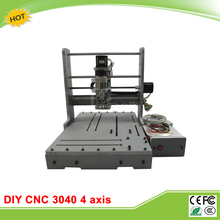 DIY CNC router 3040 4 axis LY mini CNC engraving machine free tax to EU