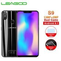 LEAGOO S9 4GB RAM 32GB ROM 5.85 Inch HD+ IPS 19:9 Screen Mobile Phone Android 8.1 MT6750 Octa Core 13MP Dual Camera Smartphone