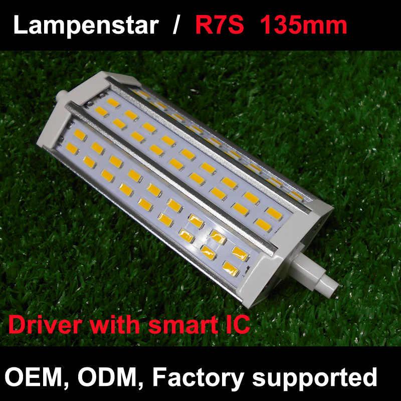 Фото R7S светодиодный светильник 135 мм SMD5730 10 W 15 25 30 LED лампа Кукуруза лампы галогенные