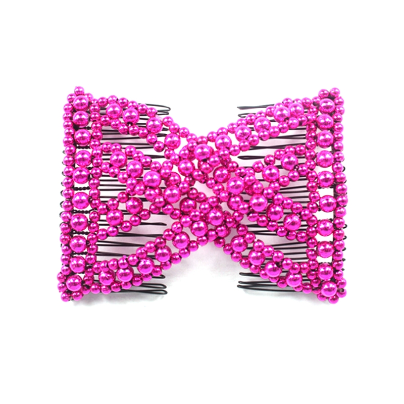 Magic Hair Comb EZ Beaded Double Stretchy Delicate Elastic Women Clips Hairstyle in Hair Jewelry from Jewelry Accessories