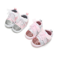 Newborn Baby Boy Girl Shoes Infant Sneakers Toddler Pre Walker Trainers Soft Sole Crib Canvas Shoes First Walkers 0-18 New