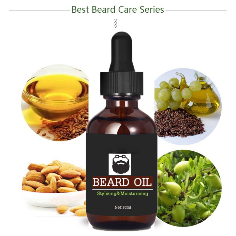 Men 30ml Beard Hair Growth Thicker Essence Oil Shape Beard Growth Produ