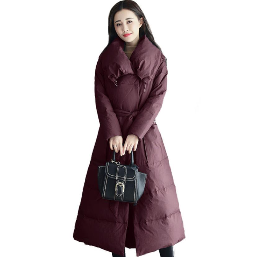 new women cotton coat losse long padded winter   parka   women