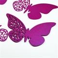 Butterfly escort vinho copo de vidro cartão de papel decorações estofos para o casamento partido supply120pcs/lot