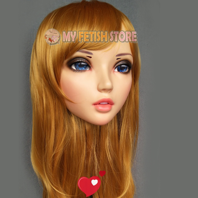 female Sweet Girl Resin Half Head Kigurumi Mask With Bjd Eyes Cosplay Japanese Anime Role Lolita Mask Crossdress Doll Cheapest Price From Our Site Boys Costume Accessories Kids Costumes & Accessories hua-01